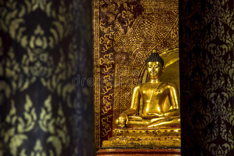 Buddha sculpture at Wat Pra Singh, Chaingmai,Thailand stock image