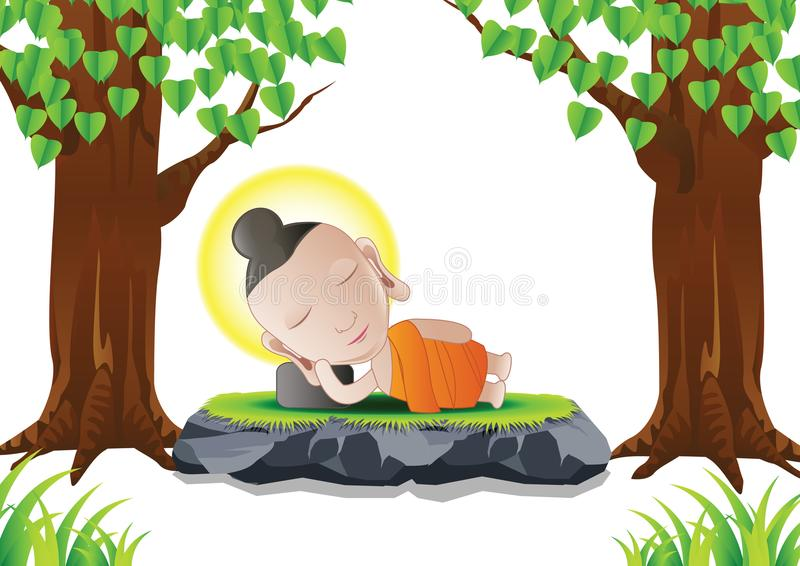 Buddha sen royalty ilustracja