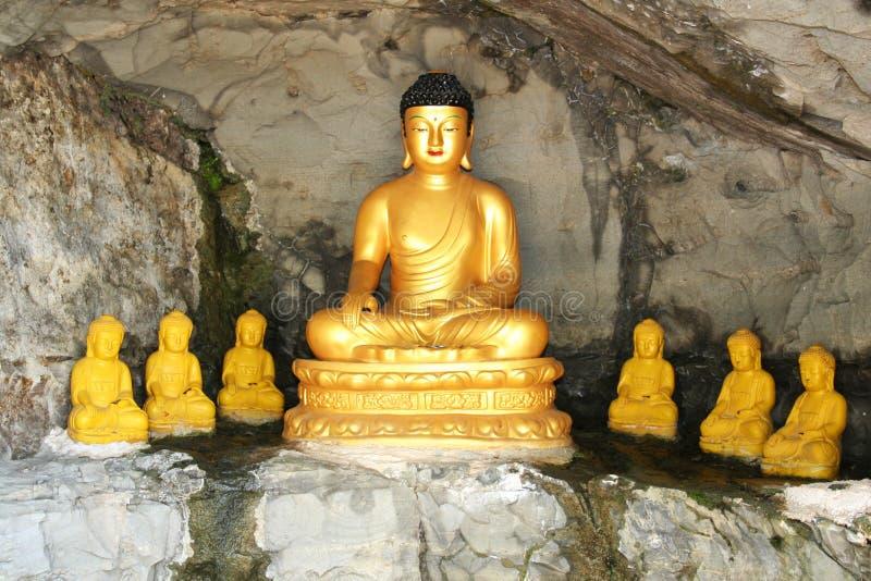Buddha shrine in Guam stock photos
