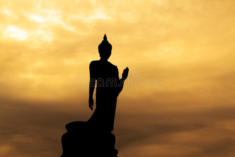 Buddha Silhouette. Stock Images