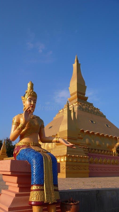 Buddha-Skulptur im Laos stockfoto