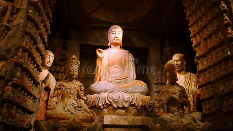 Buddha-Skulpturen lizenzfreie stockfotografie