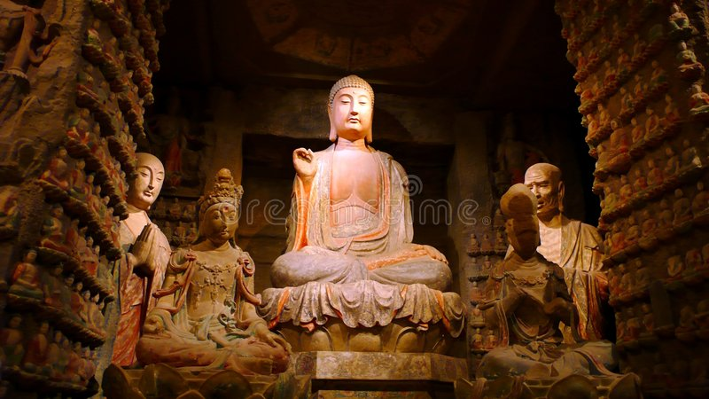 buddha skulpturer royaltyfri fotografi