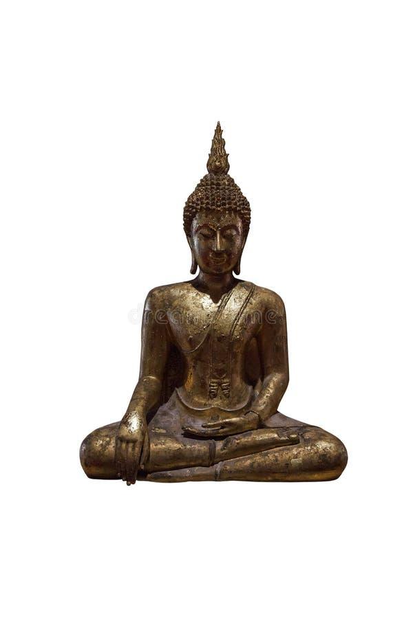 Buddha-Skulpturisolat auf Weiß lizenzfreie stockfotografie