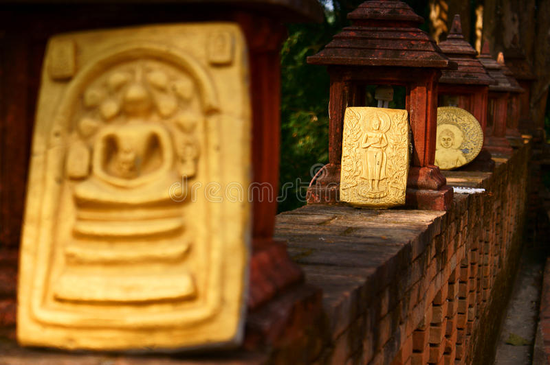 Buddha slat. This is a Buddha slat in temple at thailand stock image