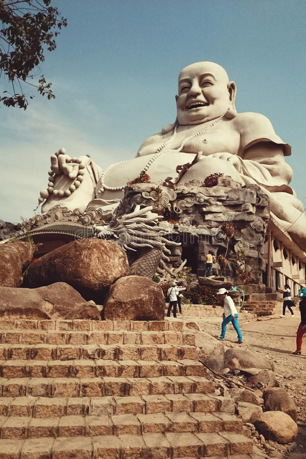 Buddha Smile in AnGiang Vietnam stock photos