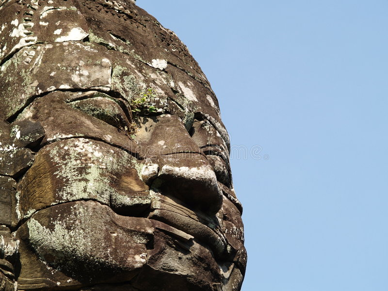 Download Buddha smiles stock photo. Image of archaeological, statue - 517514