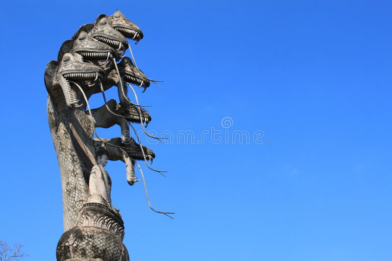 Download Buddha and snake statue stock photo. Image of landscape - 23406694