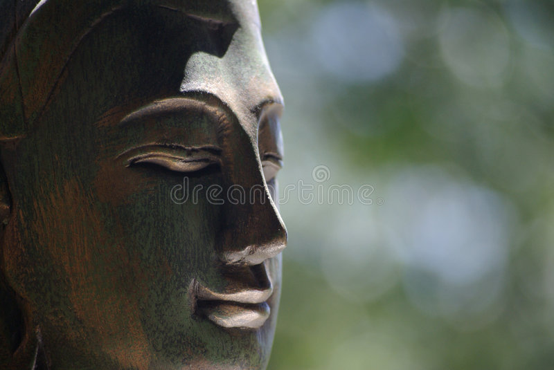 Buddha with soft background stock image