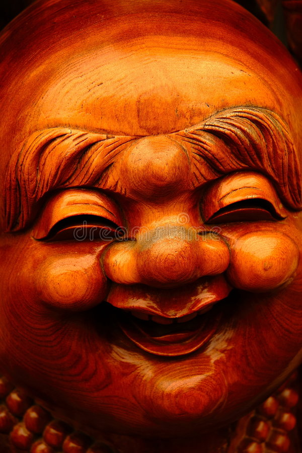 Buddha sorridente fotografia stock libera da diritti