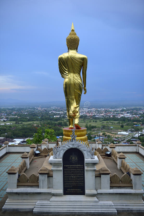 Buddha standing on a mountain Wat Phra That Khao Noi, Nan Provin