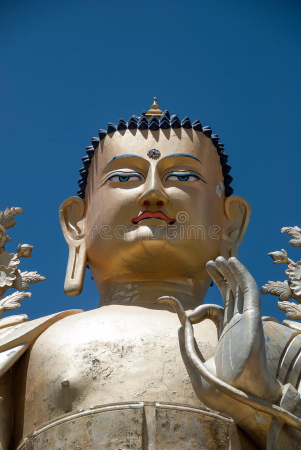 Buddha statua przy Liker monasterem fotografia stock
