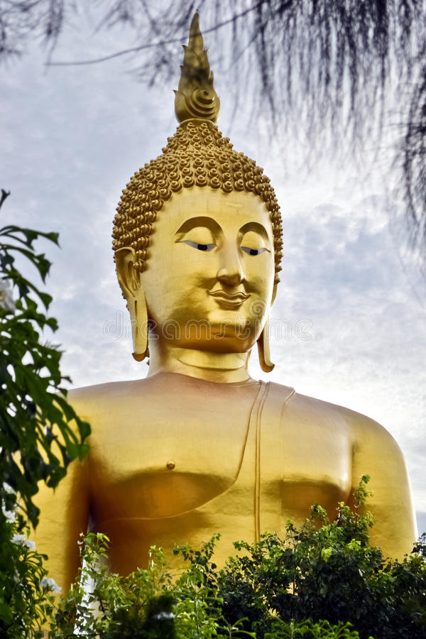 Download Buddha statue stock image. Image of large, asia, clouds - 25988359