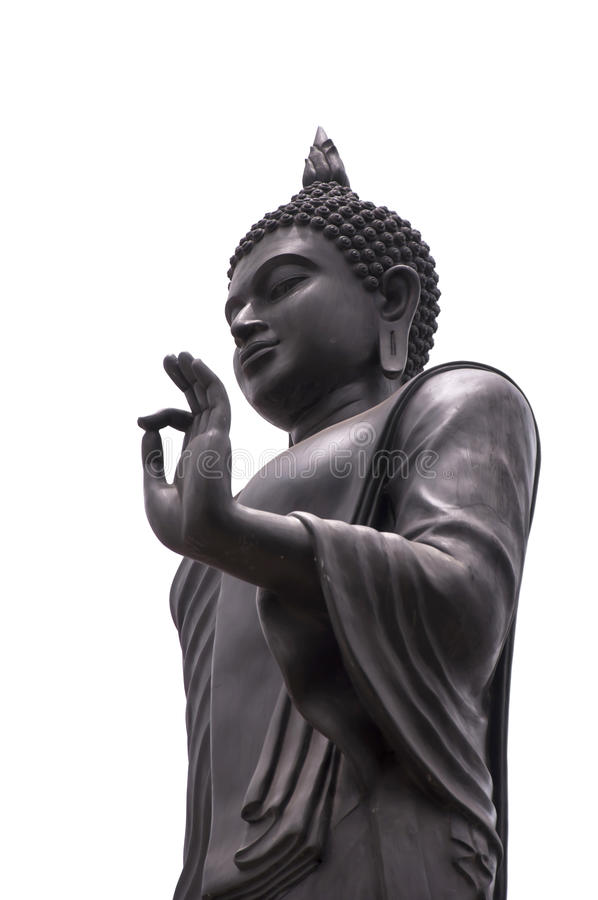 Buddha Statue. In Blessing left hand royalty free stock images