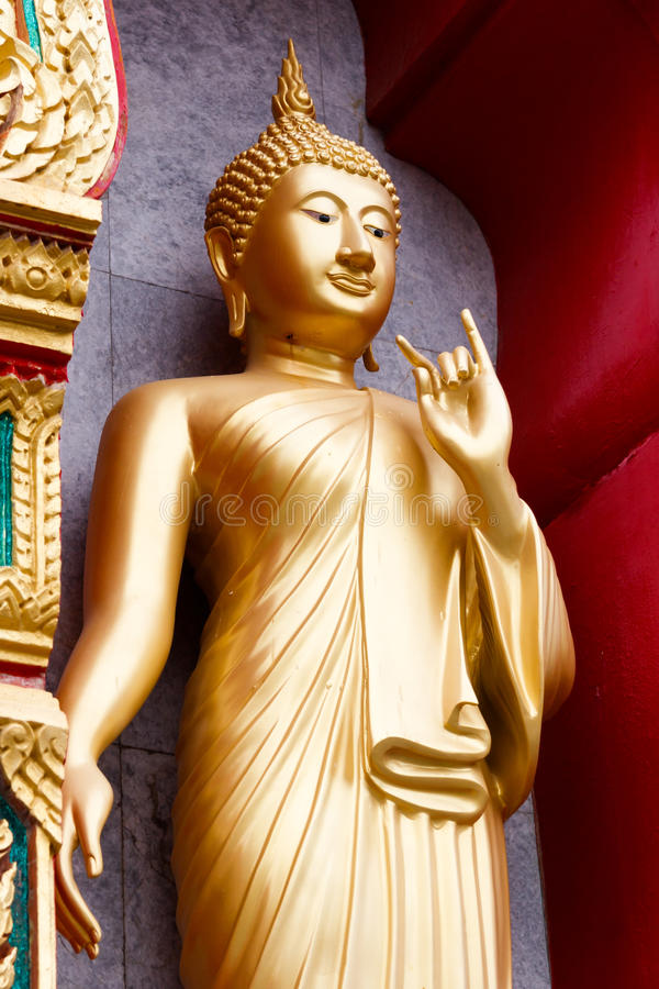 Buddha Statue. At Wat Chalong temple in Thailand stock photos