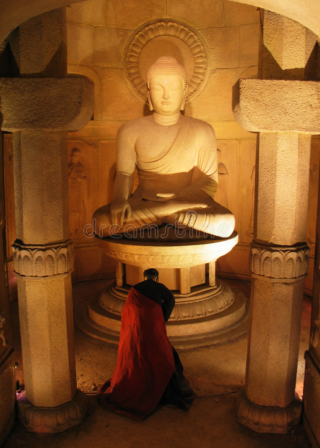 Download Buddha Statue stock image. Image of pray, monk, statue, respect - 86351