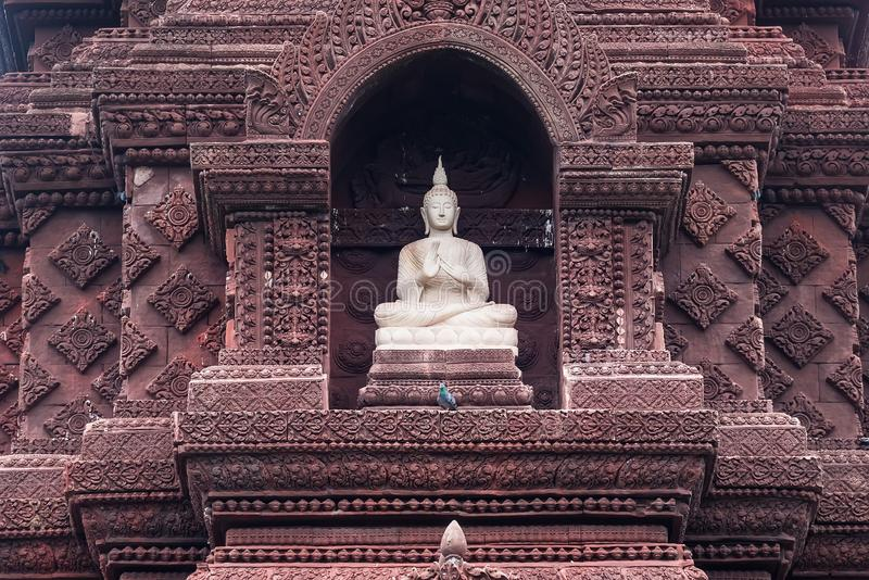 Buddha statue in the ancient country of Thailand royalty free stock images