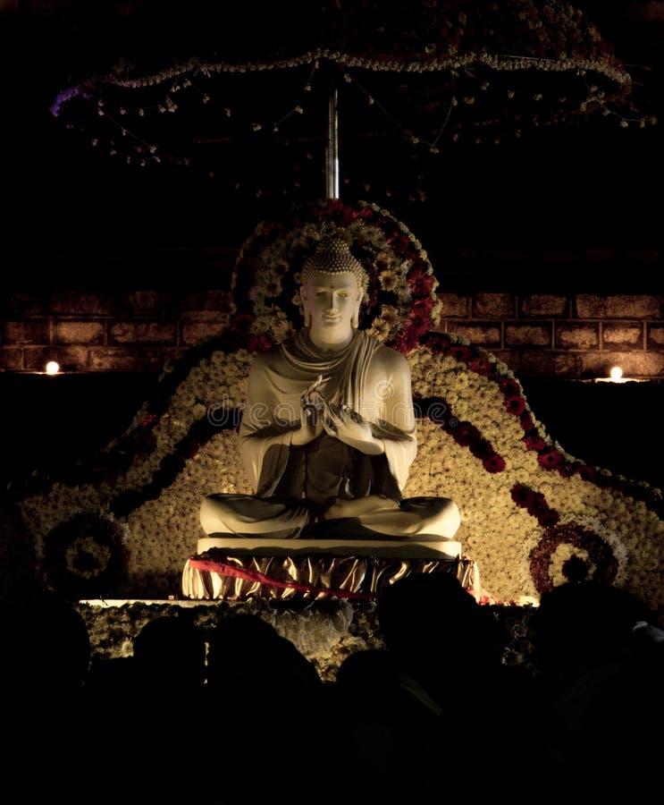 Buddha statue in Anuradhapura, Sri Lanka royalty free stock photo