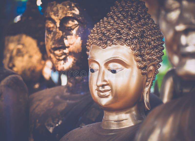 Buddha Statue in Bangkok, Thailand. Selective focus royalty free stock photos