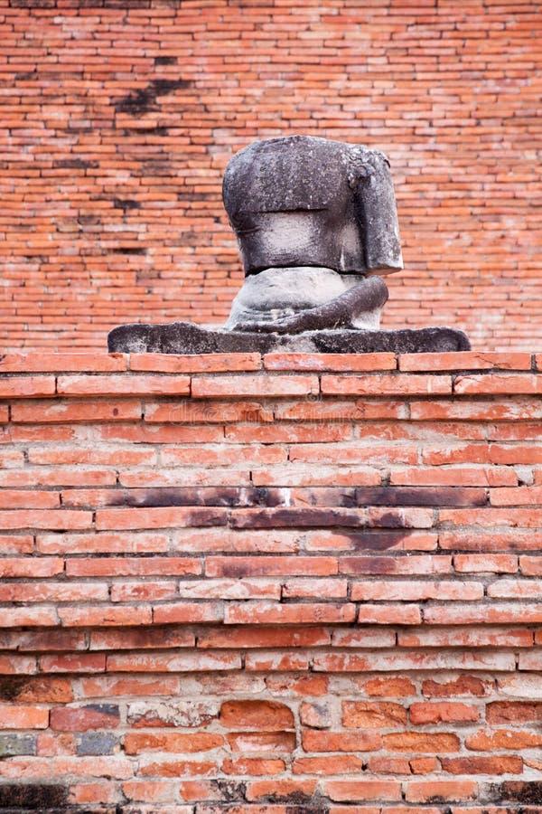 Buddha-Statue bei Wat Mahathat, Thailand stockbild
