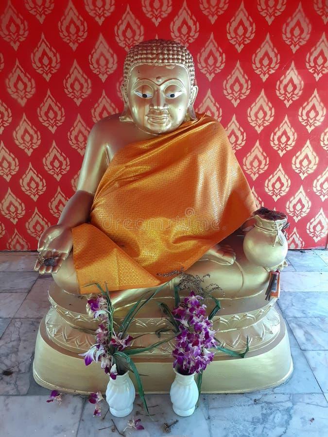 Buddha statue. Buddhas measure priest monk statue respect, what, buddhists, bridge royalty free stock image