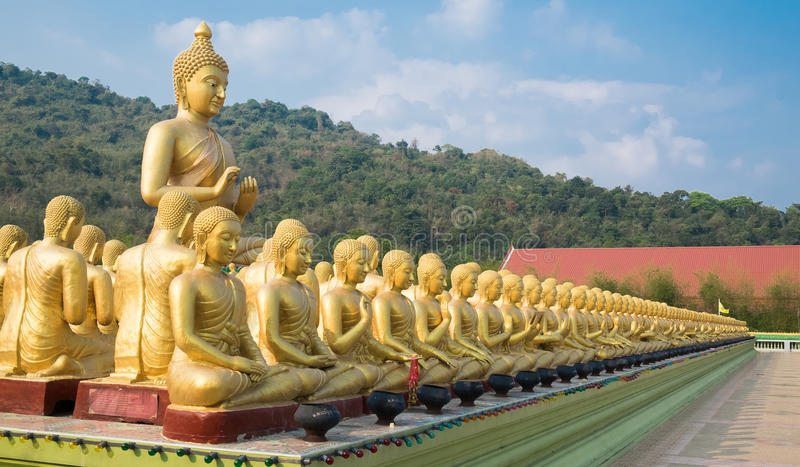 Buddha statue. Buddhist monuments Park Makha Bucha stock photo