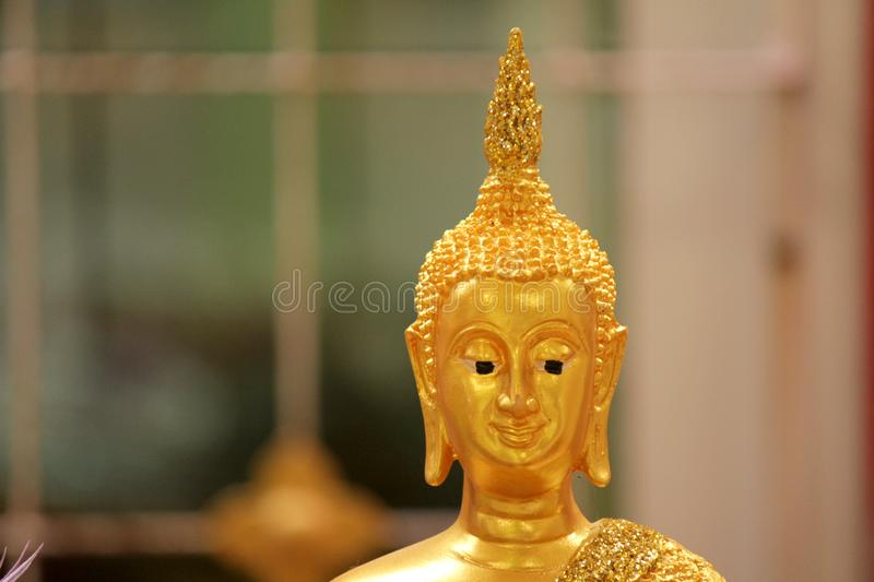 Buddha statues in various postures. Buddha statue that Buddhists respect stock images