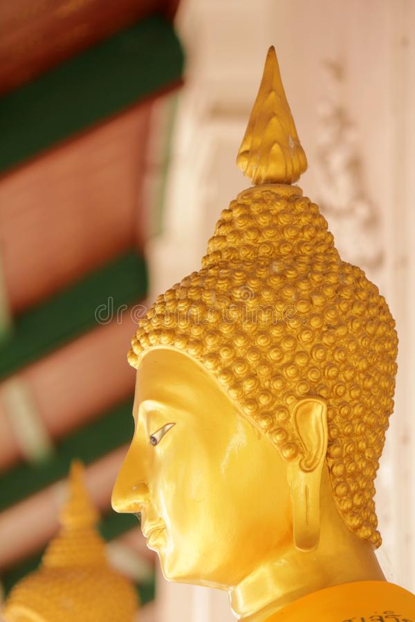 Buddha statues in various postures. Buddha statue that Buddhists respect royalty free stock photography