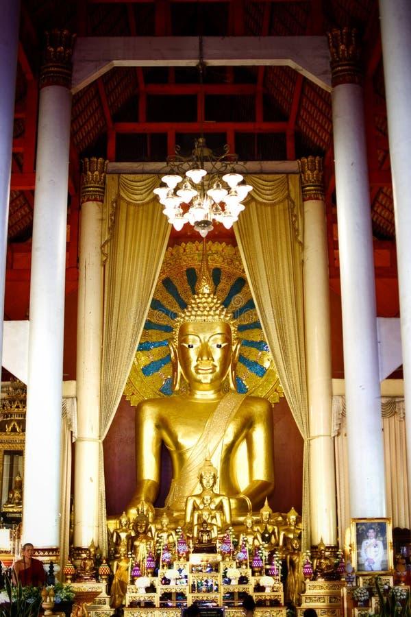 Buddha statue in wat phra singha stock photos