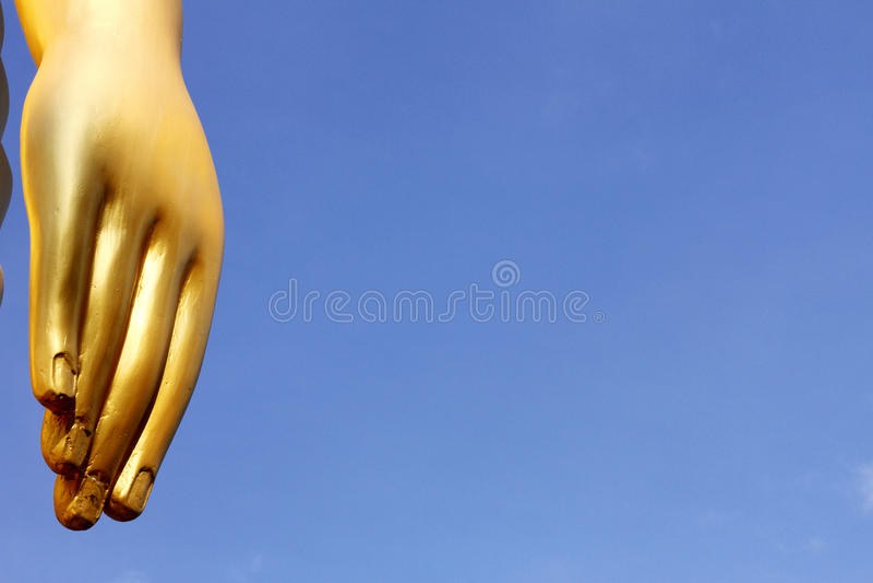 Buddha statue hand stock photos