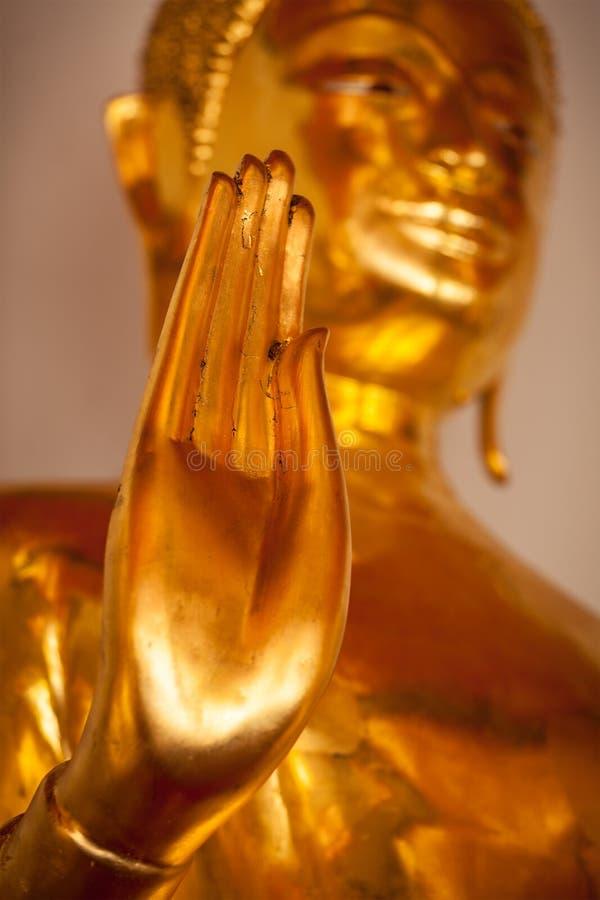 Buddha statue hand, Thailand royalty free stock photography