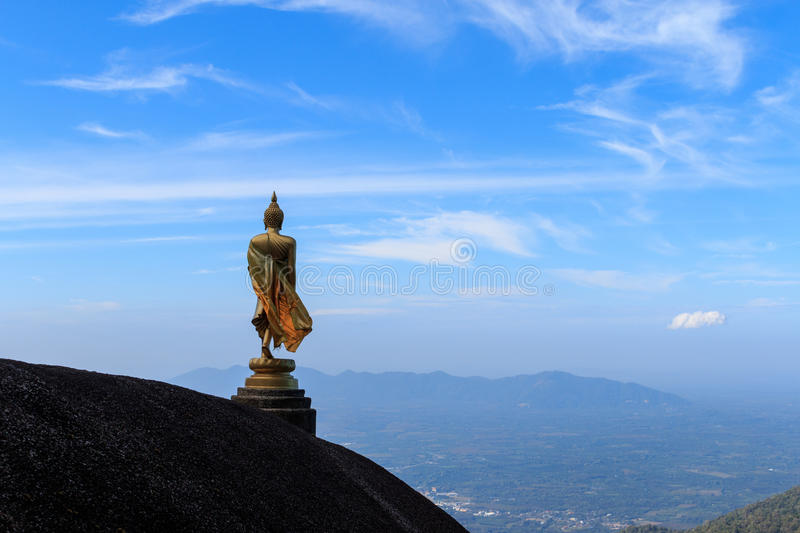 Image of buddha on the hill stock images