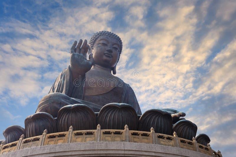 Buddha statue, Hong Kong stock images