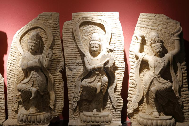 Ancient chinese song and dance buddha statues, adobe rgb stock photos
