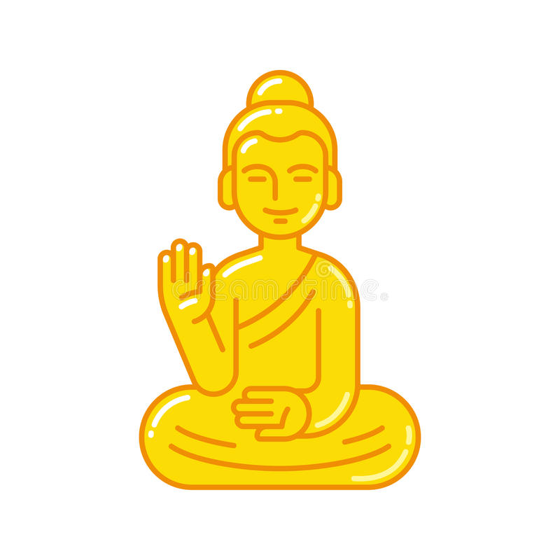 Buddha Statue Icon Stock Vector Illustration Of Monument 89671060