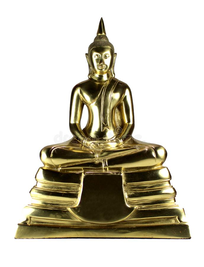 Buddha statue isolated on white background. With clipping path stock image