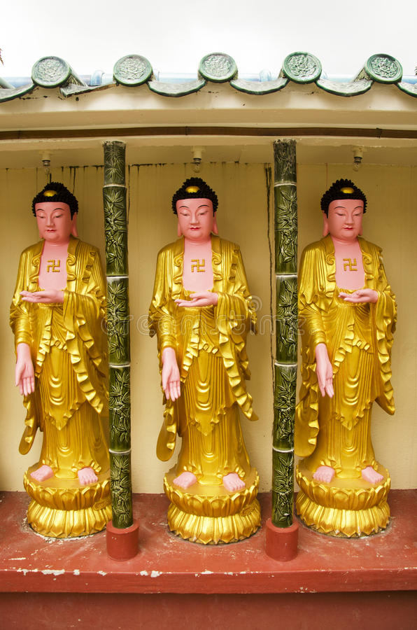 Buddha statue of Kek Lok Si Chinese and Buddhist temple. For people visit and pray in Georgetown in Penang, Malaysia stock images