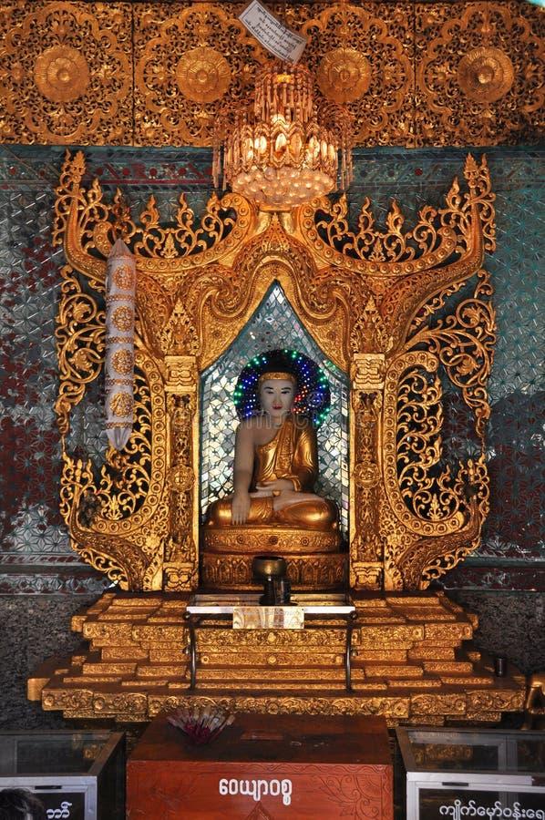 Buddha statue at Kyaik Hwaw Wun Pagoda,Thanlyin,Myanmar. royalty free stock photos