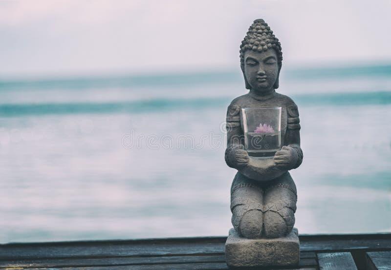 Buddha Statue Near The sea. Spa. Zen stock photo