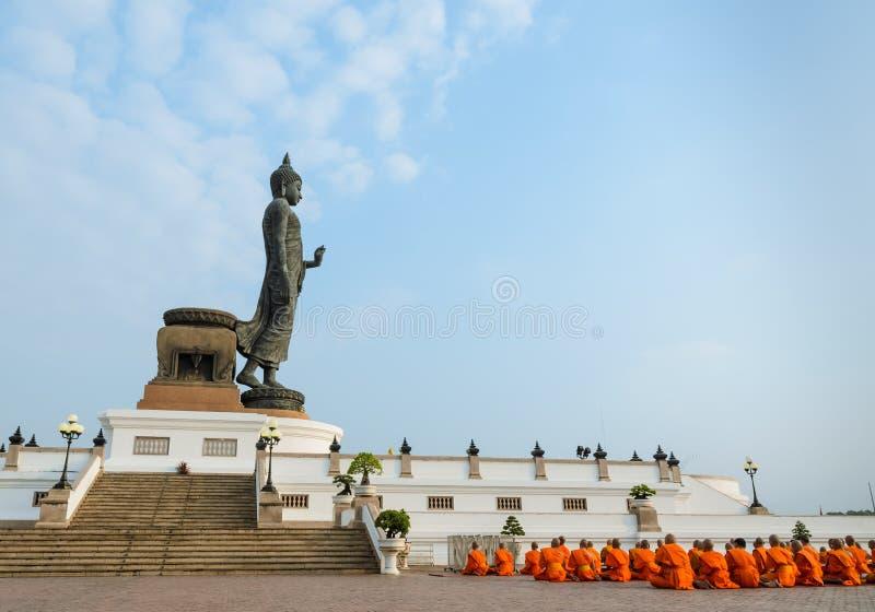 Buddha statue at Phutthamonthon, Thailand stock photos