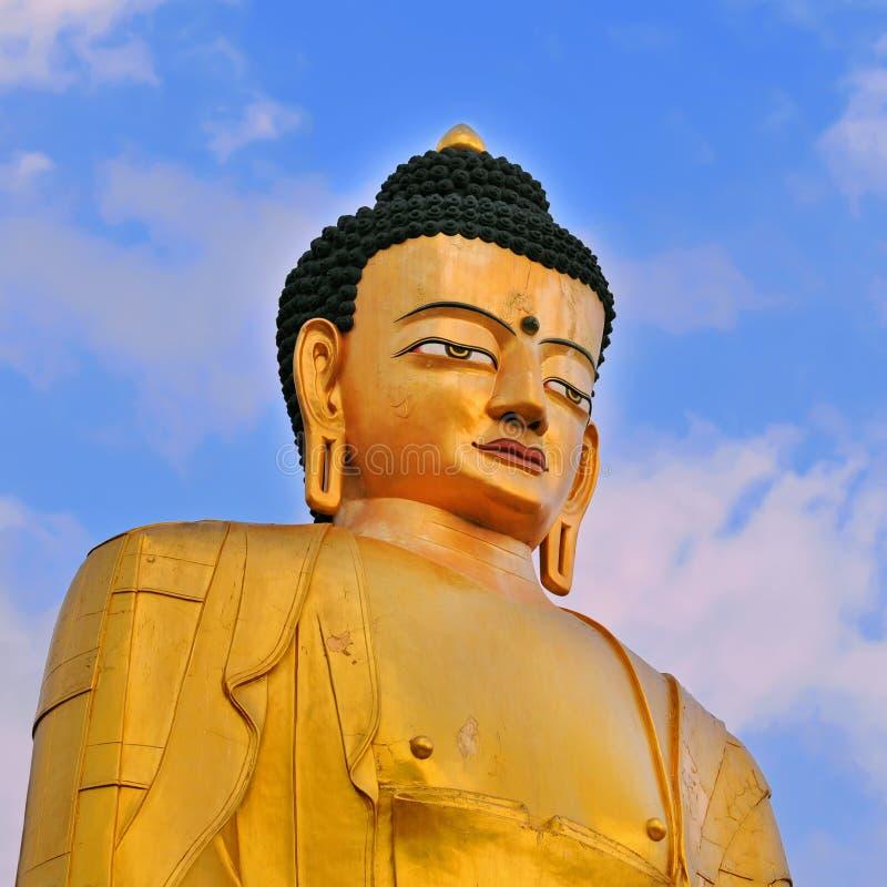 Buddha statue of Sakyamuni buddha stock photos