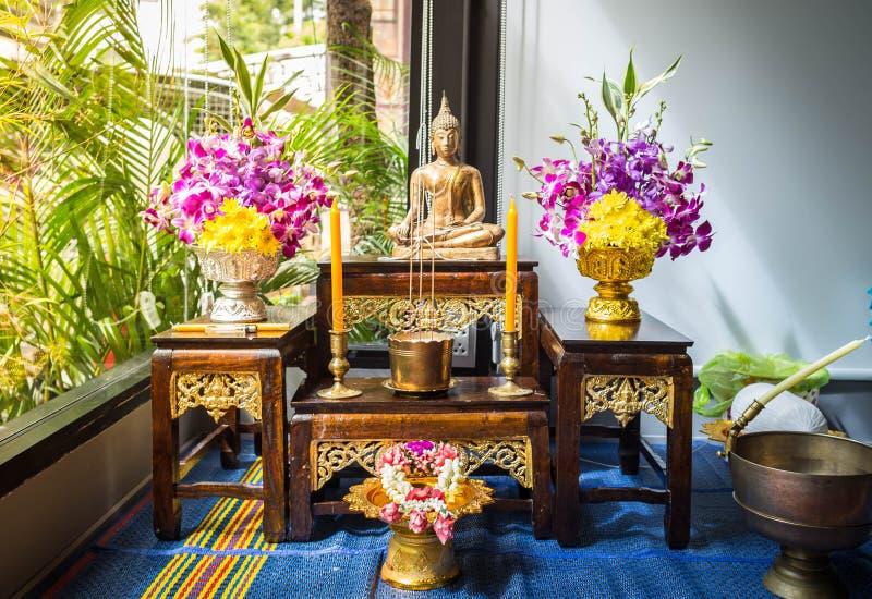 Buddha Statue Set stock photos