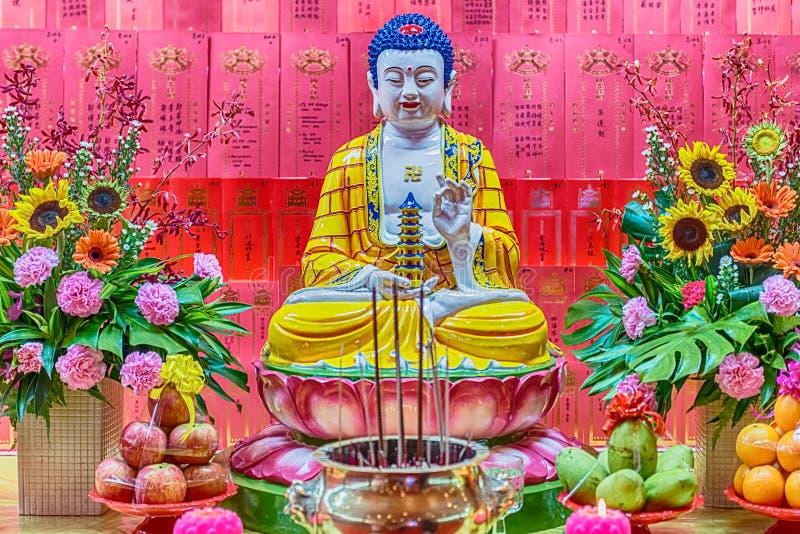 Buddha-Statue in Tempel Thean Hou in Kuala Lumpur, Malaysia stockfotografie
