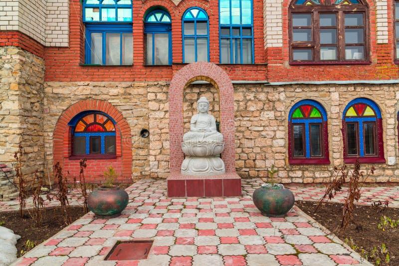 A Buddha statue in temple of all religions. The village of Old Arakchino. Kazan, Tatarstan. royalty free stock photo