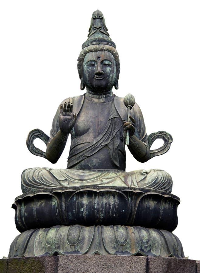 Buddha statue in Tokyo royalty free stock photo
