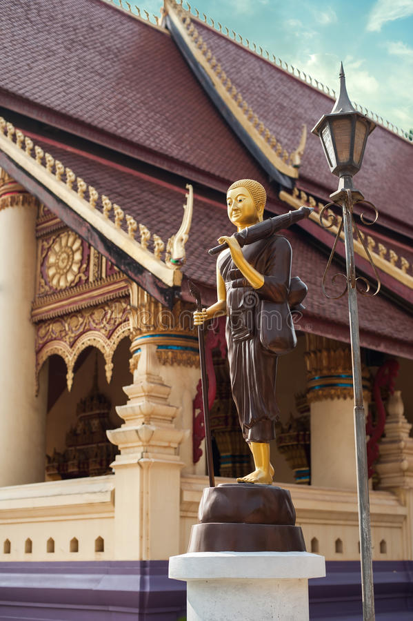 Buddha statue in traditional asian style. Vientiane, Laos royalty free stock photos