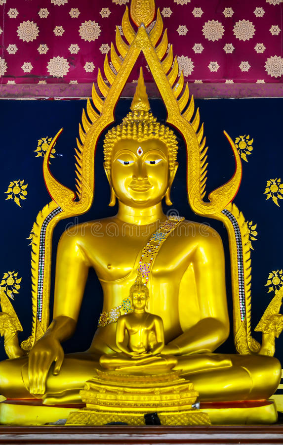 Buddha statue, Ubonratchatani, Thailand. Gold color Buddha statue, Ubonratchatani, Thailand stock photo