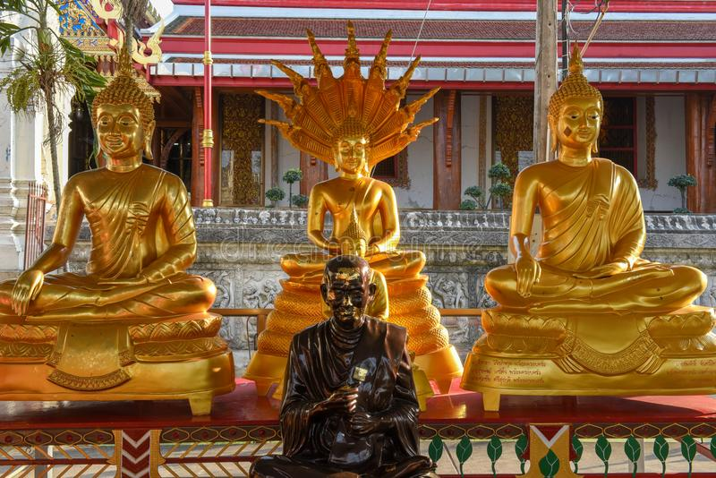Buddha statues in Wat Phanan Choeng temple in Ayutthaya, Thailand. Buddha statue in Wat Phanan Choeng temple in Ayutthaya on Thailand stock images