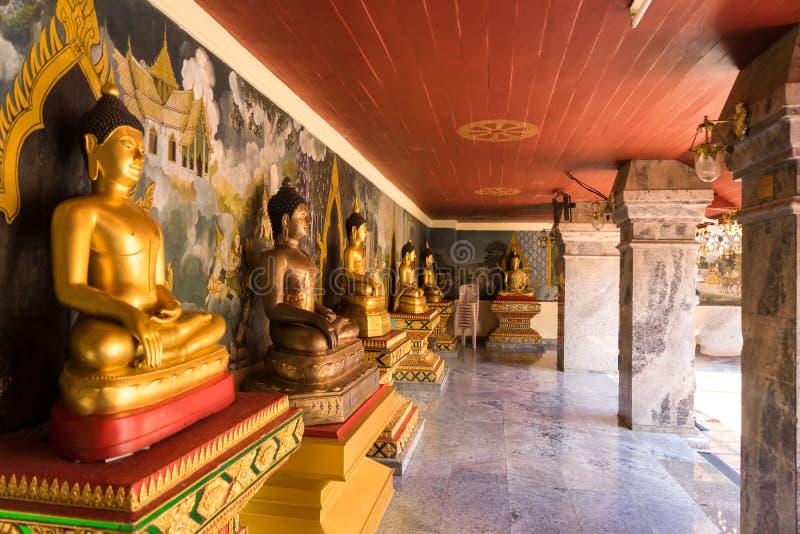 Buddha Statue Wat Phra That Doi Suthep is a Theravada buddhist temple at beautiful near Chiang Mai, Thailand royalty free stock photography