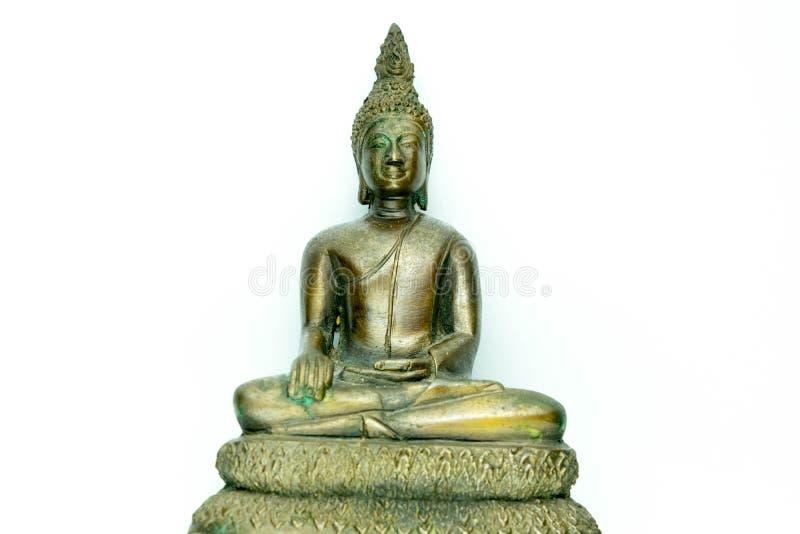 Buddha statue on white background stock photos